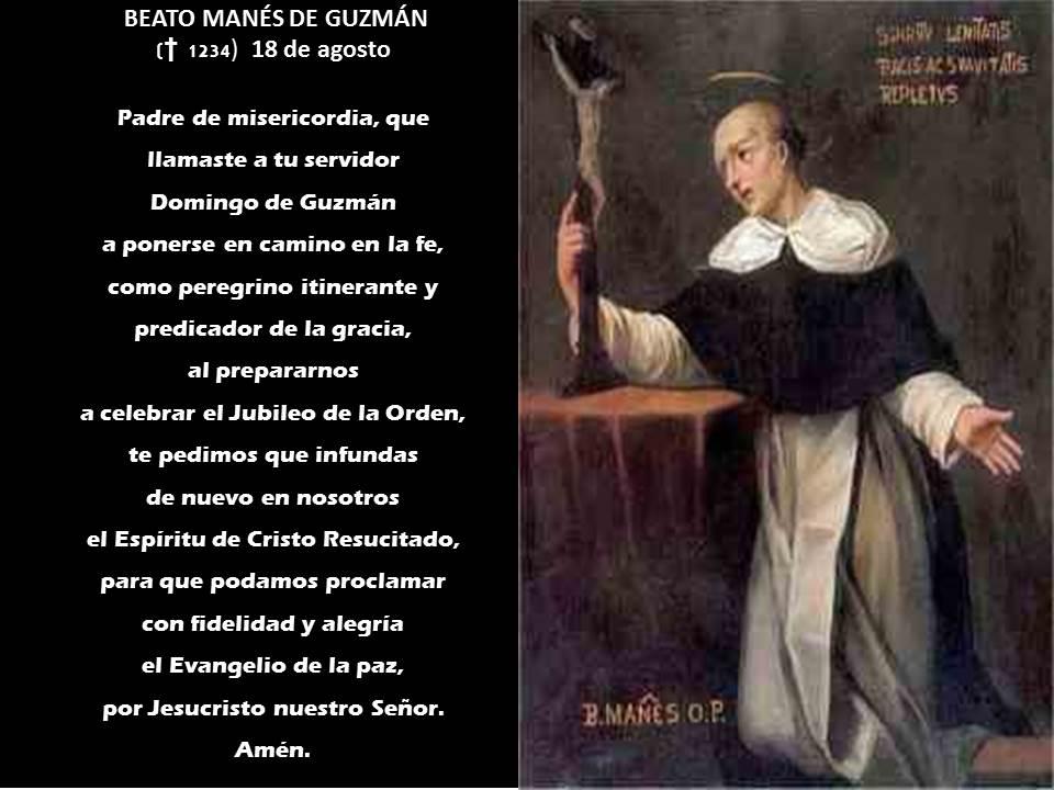 BEATO MAN�S DE GUZM�N ( � 1236) Hermano de Santo Domingo de Guzm�n ...